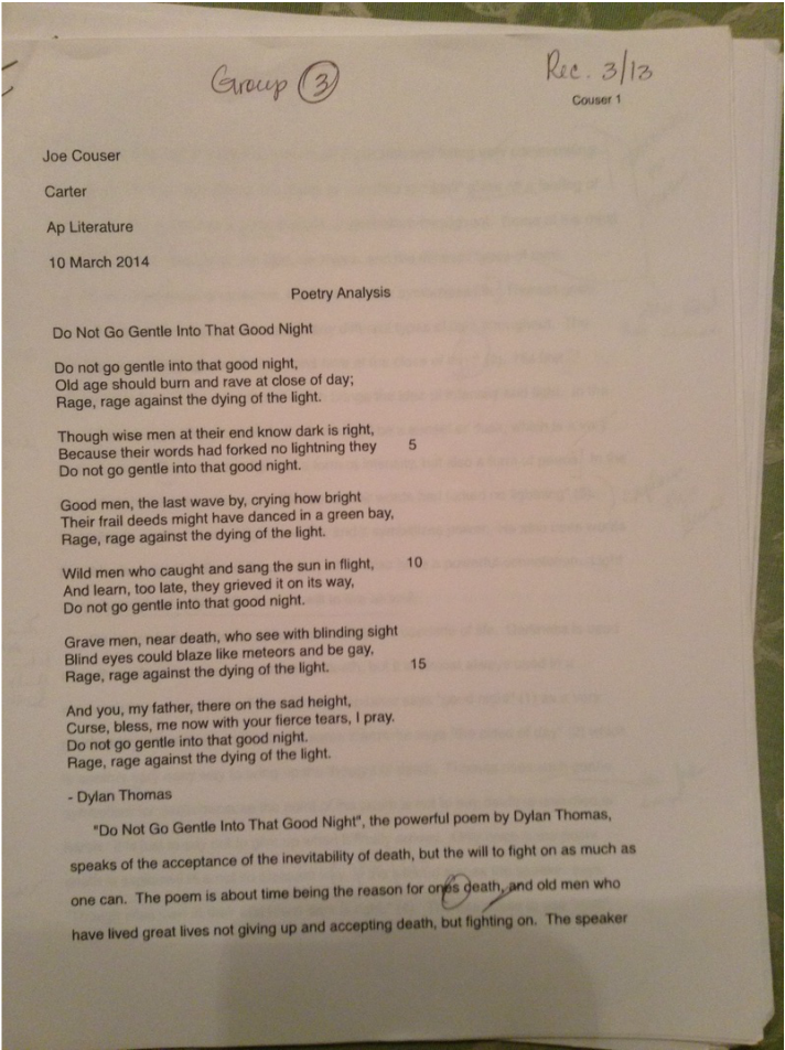 Ap lit poetry analysis essay